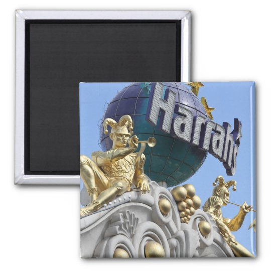 Magnet, square, Las Vegas, Harrah's Magnet