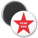 Magnet Star Dog on Red Star Magnets