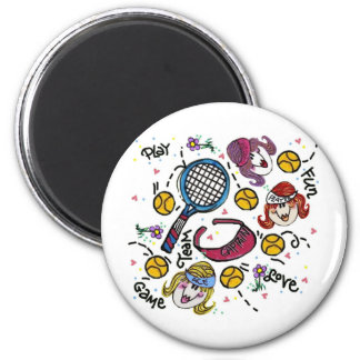 Magnet -Tennis Girls