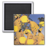 Magnet:  The Lantern Bearers - Maxfield Parrish 2 Inch Square Magnet
