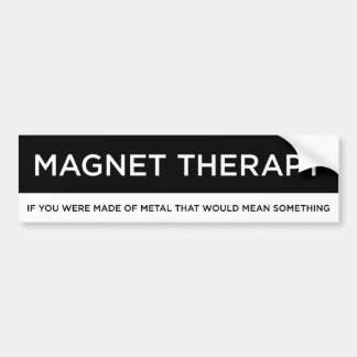 Magnet Therapy Bumper Sticker