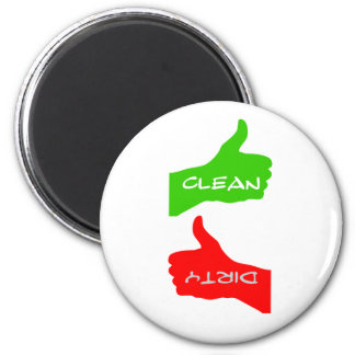Magnet- Thumbs Up/Down Clean/Dirty Dishes- Color C 2 Inch Round Magnet
