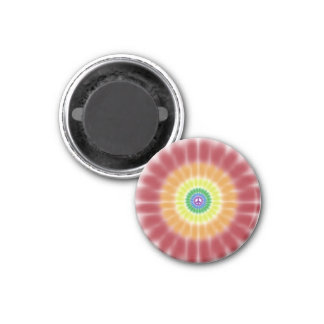 Magnet Tie Dye Peace Sign Rainbow Explosion