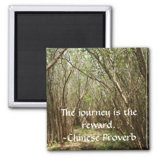 Magnet: Tree path w/ inspirational... - Customized 2 Inch Square Magnet