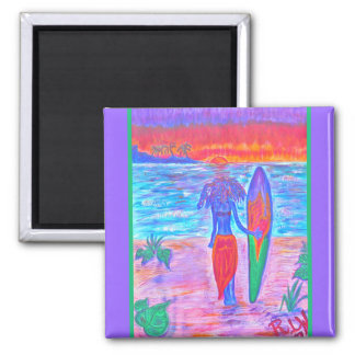 Magnet- Tropical Fruit Punch 2 Inch Square Magnet