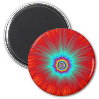 Magnet   Turquoise Explosion on Red