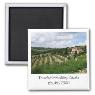 Magnet - Tuscan Vineyard and Hill Town