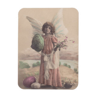 Magnet Vintage 100+yr Antique Angel & Rose Magnet