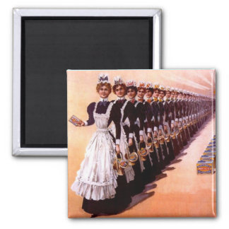 MAGNET VINTAGE ADVERTISING WATSON'S MAIDS IN A ROW