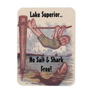 Magnet Vintage Antique Shark Free Great Lake Promo