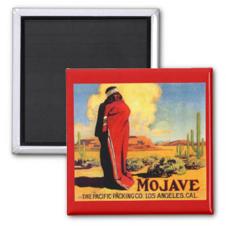 MAGNET VINTAGE MOHAVE INDIAN ADVERTISING CRATE LBL