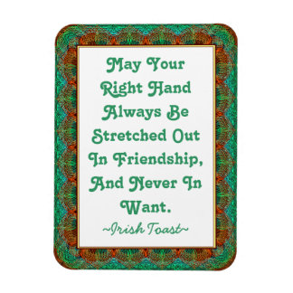 Magnet Vintage Old Irish Toast Faux-tatted frame