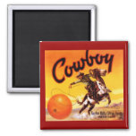 MAGNET VINTAGE TUSTIN CA COWBOY ROPING ORANGE ADV