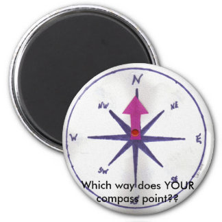 Magnet , Which way does YOUR compass point??