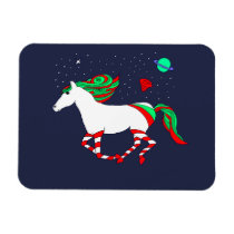 Magnet with a picture of Christmas horse