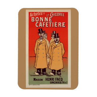 Magnet with a Reproduction French Vintage Poster