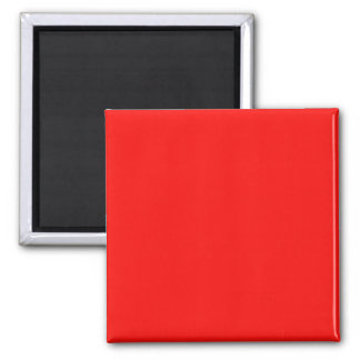 Magnet with  Bright Red Background