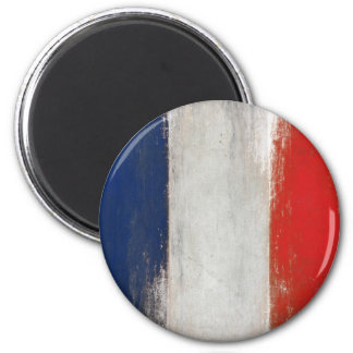 Magnet with Dirty Vintage French Flag
