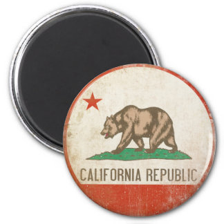 Magnet with Distressed California Republic Flag