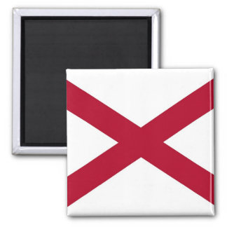 Magnet with Flag of  Alabama State - USA
