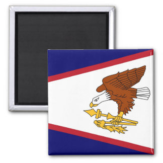 Magnet with Flag of  American Samoa- USA