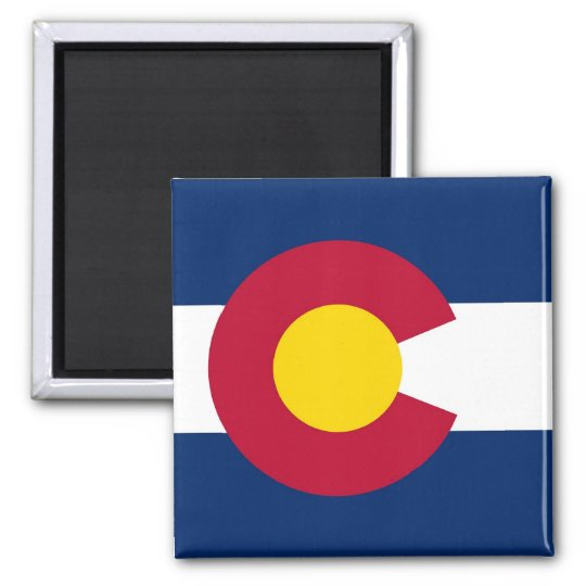 Magnet with Flag of  Colorado State - USA