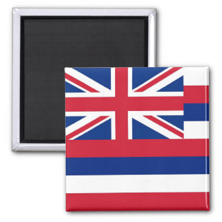 Magnet with Flag of  Hawaii State - USA