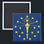 """Magnet with Flag of Indiana State - USA<br><div class=""""desc"""">Magnet with Flag of  Indiana  Sate - USA. This product its customizable.</div>"""