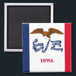 """Magnet with Flag of  Iowa State - USA<br><div class=""""desc"""">Magnet with Flag of  Iowa State - USA. This product its customizable.</div>"""