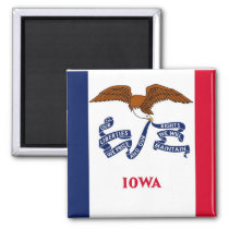 Magnet with Flag of  Iowa State - USA