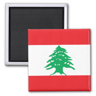 Magnet with Flag of Lebanon