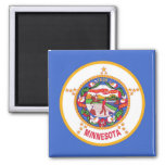 Magnet with Flag of Minnesota State - USA