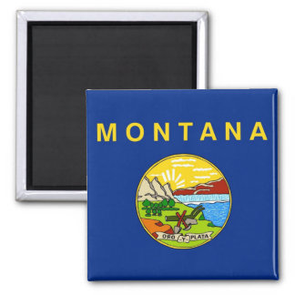 Magnet with Flag of Montana State - USA