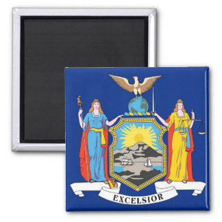 Magnet with Flag of New York State - USA