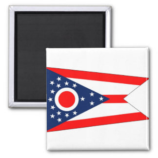 Magnet with Flag of Ohio State - USA