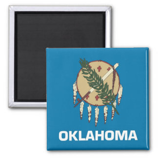 Magnet with Flag of Oklahoma State - USA