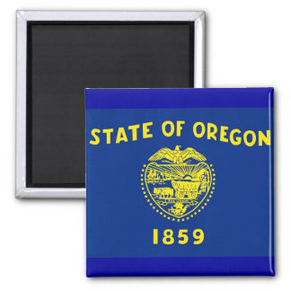 Magnet with Flag of Oregon State - USA