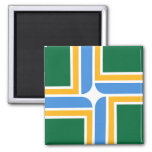 Magnet with Flag of Portland, Oregon, USA