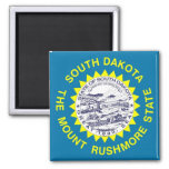 Magnet with Flag of South Dakota State - USA