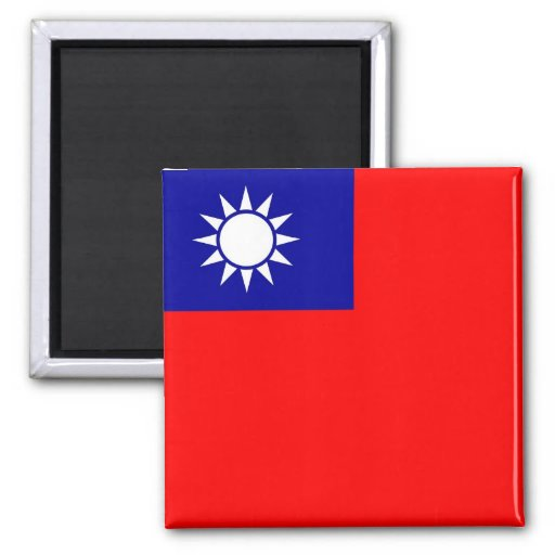 Magnet with Flag of Taiwan