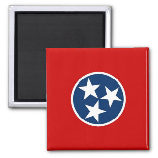 Magnet with Flag of Tennessee State - USA
