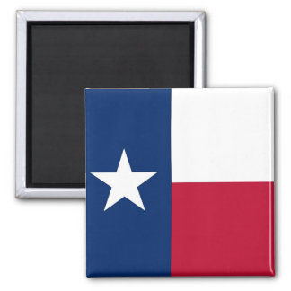Magnet with Flag of Texas State - USA