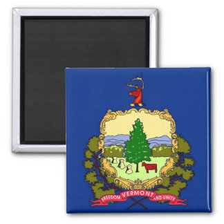 Magnet with Flag of Vermont State - USA