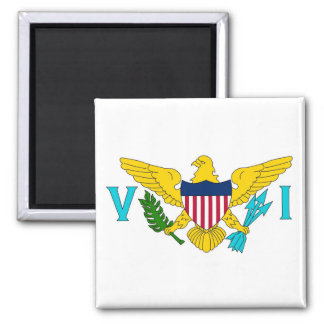 Magnet with Flag of Virgin Islands - USA