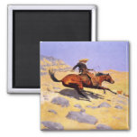Magnet With Frederic Remington Painting
