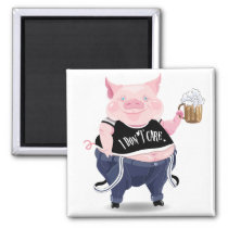 Magnet  with funny pig picture