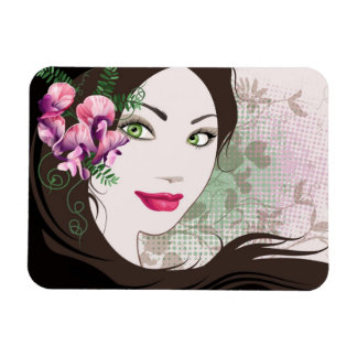 Magnet with girl portrait