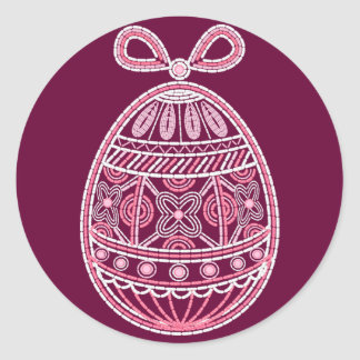 Magnet  with Happy Easter egg Classic Round Sticker