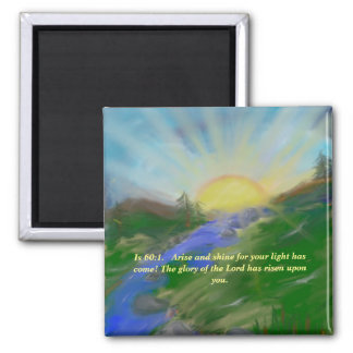 Magnet with inspirational scripture