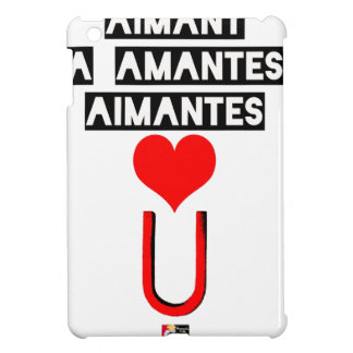 Magnet with loving lovers - Word games iPad Mini Cases